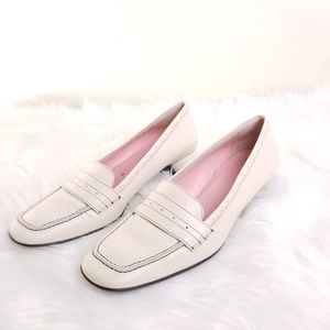 Cole Haan Cream Leather Kitten Heel Size 8 1/2B B1